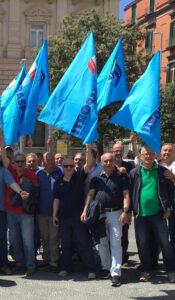Manifestazione dei lavoratori dell'igiene ambientale